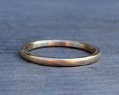Petite Recycled 14k Yellow Gold Wedding Band or Skinny Stackable Ring, Made to Order