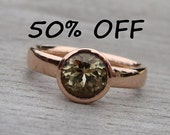 CLEARANCE - Fair Trade Zultanite and Recycled 14k Rose Gold Ring, size 7