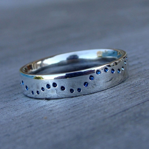 Wave Ring - Recycled Palladium Sterling Silver, Made to Order