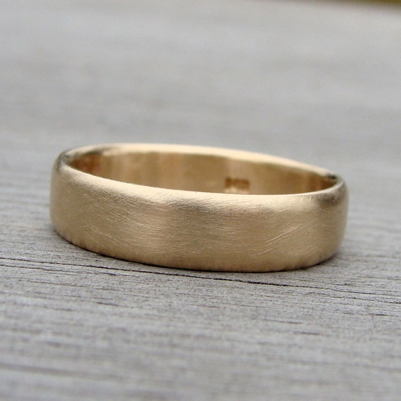 Recycled 14k Yellow Gold Wedding Band, Made to Order