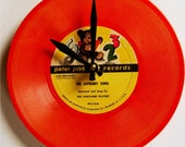 The Alphabet Song Vintage Orange Record Clock