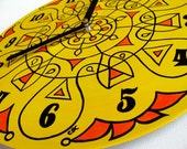 Super Lemon Mandala Record Clock