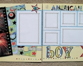 All American Boy  12 x 12 Premade Scrapbook Pages