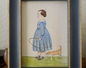 Mabel and Oscar 19th Century Style Watercolor Profile Portrait