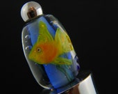 Yellow Tail Aquarium Lampwork\/Flamework Wine Stopper - ON SALE