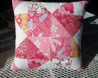 Pillows - 2 in this set - Hawaiian - Multi pink colors
