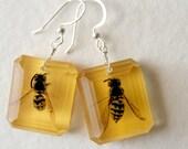 Yellow Jacket Bee Earrings