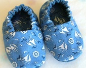 Sail Away Soft-Soled Baby Shoes - Size 6-12 months