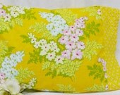 Nicey Jane Mustard Yellow Floral and Geometric Print 16 x 12 Travel Toddler  Pillowcase