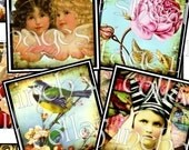 1.5 x 1.5 inchies vintage images squares digital collage sheet altered art printable paper hang tags sh.04