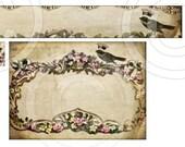 VinTaGe RoYaL CRoWNeD BiRD Designed Set etsy shop banner avatar business cards hang tags digital collage sheet