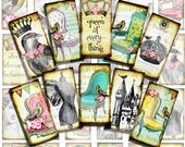 ViNTaGe WHiMSY / Digital collage sheet / printable / altered art domino tile rectangle pendants download sh12a