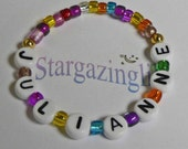 Childrens Personalized Name Bracelet ID Jewelry Party Favors Gifts Infant Baby Child Kid Adult Sizes Stocking Stuffer