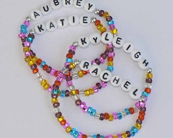 Personalized Children's Bracelets NAME/SPORT/NICKNAME Jewelry Infant Child Kid Adult Sizes Easter Basket Spring Fling