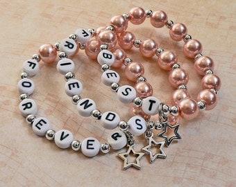 Best Friends Forever Children's Charm Bracelets Child Kid Toddler Teen Sizes Graduation Gift