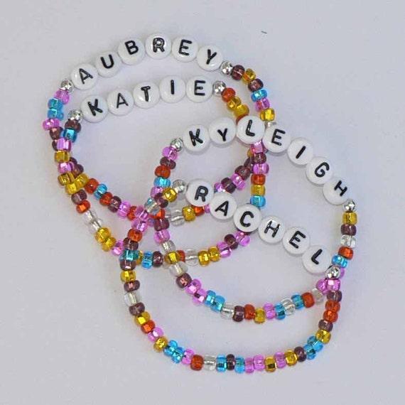 Personalized Children's Bracelets NAME/SPORT/NICKNAME Jewelry Infant Child Kid Adult Sizes Easter Basket Spring Fling