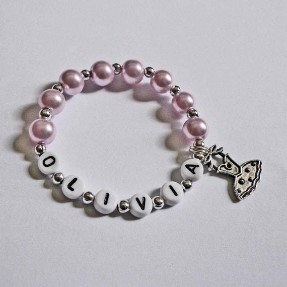 Children's Jewelry Bracelet PERSONALIZED With By