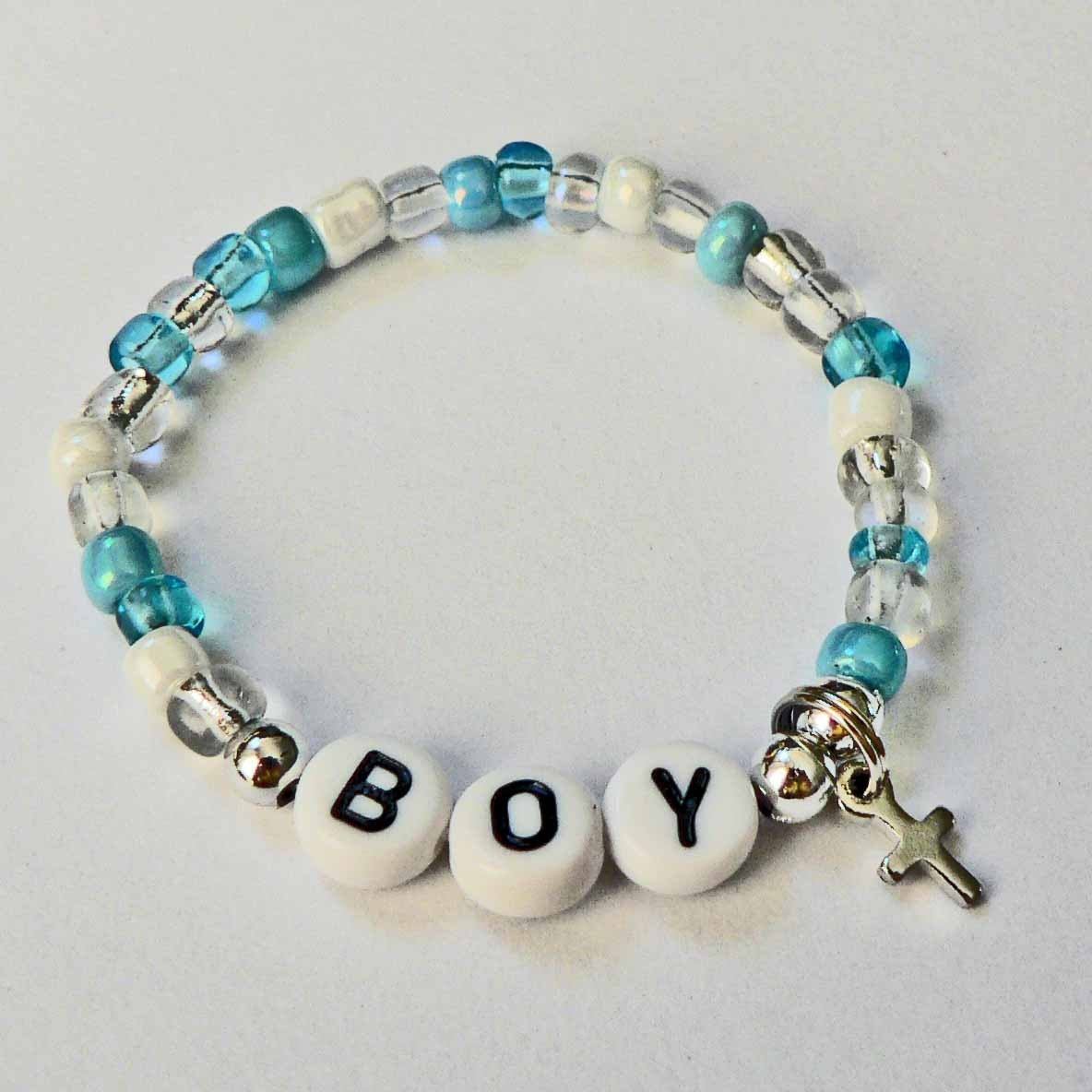 baby boy baby bracelet personalized name bracelet cross