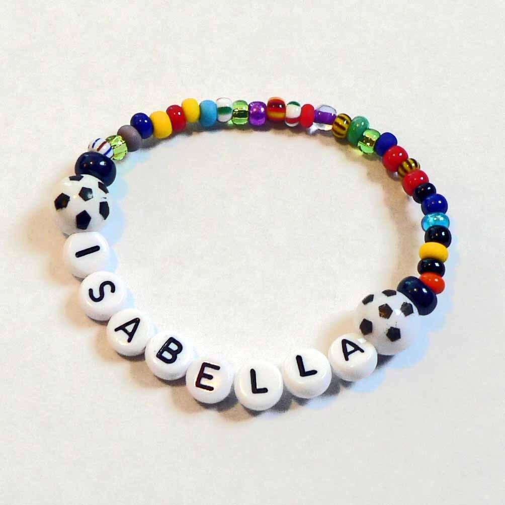 soccer personalized name bracelet spirit bracelet boys