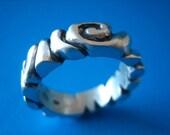 Sterling Silver Ripple Ring Slim