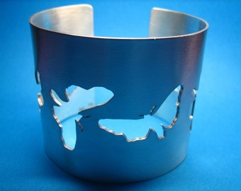 Sterling Silver Moth Cuff/Bangle