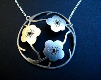 The Three Sakuras  in Sterling Silver