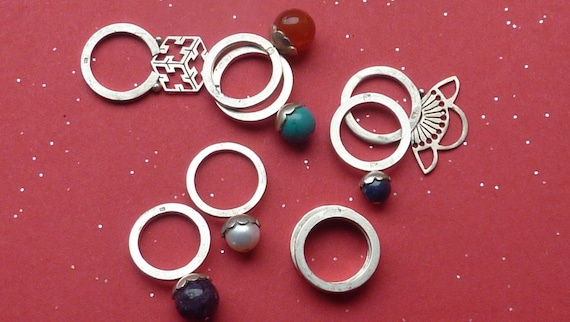 Sterling Silver Stacking Rings You Choose (from 4)