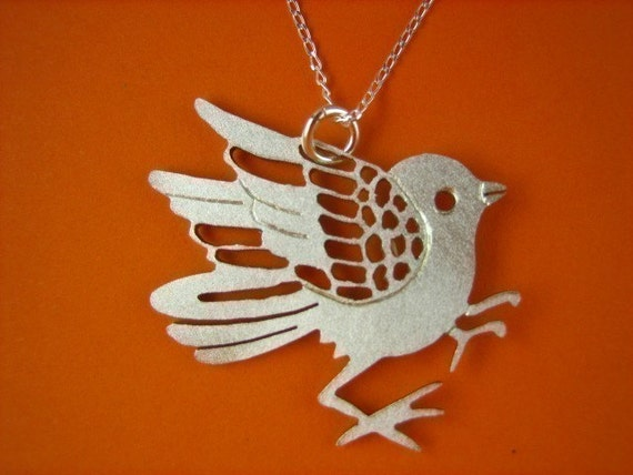 Tori Japanese Style Bird Pendant