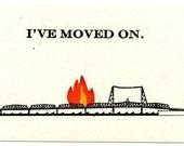 Burning Bridge Postcards--Set of Five