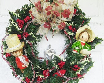 Herald Angels Sing,Christmas Wreath, Holiday wreaths, Holiday Decor, Christmas decor, Door wreath, Christmas wreath
