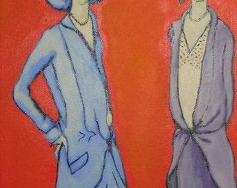 Ladies in Blue and Lavender