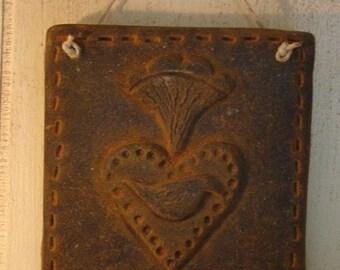 Primitive Colonial Heart - Bird Silicone Mold