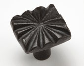 "1"" Star Pattern Knob 0418 - Wrought Iron Cabinet Hardware - iron pulls - hand forged - door pulls - decorative hardware - blacksmith forged"