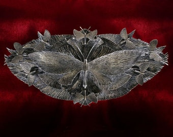 "40"" Wide Metal Butterfly Sculpture - Blacksmith Made Art, Butterfly Art, butterfly decoration, metal sculpture, Forged Iron Art, Wall art"