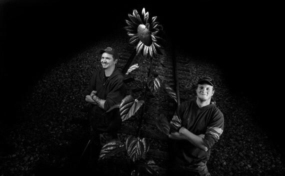 8 Foot Tall Metal Sunflower