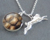 The Hare and The Tortoise Necklace