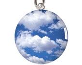 Cloudy Blue Sky Charm or Pendant