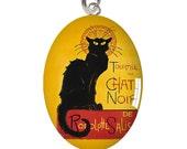 Le Chat Noir Cat Poster Charm or Pendant