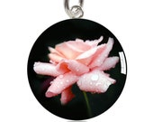 Pink Rose Charm or Pendant