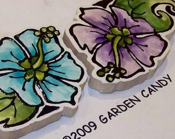 Tattoo-style Tile, Mosaic Tiles, Hand Painted, Tribal style flowers