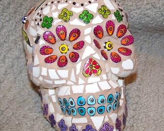 Mosaic Sugar Skull, Day of the dead, Dia de los Muertos