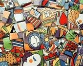 Metropolitan Mosaic Tiles Broken Plates Faces Art Deco Retro Tesserae Vitromaster People Assortment Mix
