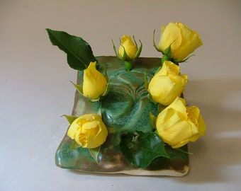 Gingko Flower Brick or  Pansy Pocket or Pencil Holder