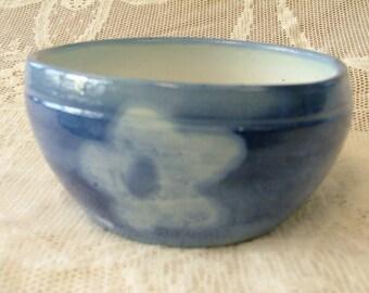 Porcelain Flower Bowl in Blue Jean Glaze