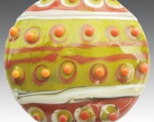 Harvest Kente Focal - Lampwork by Teague SRA