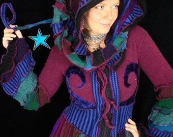 Coat by Katwise - Reconstructed Sweater Pattern - Tutorial PDF
