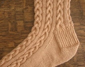 Knit Pattern - Dressed to the 9's Cable sock