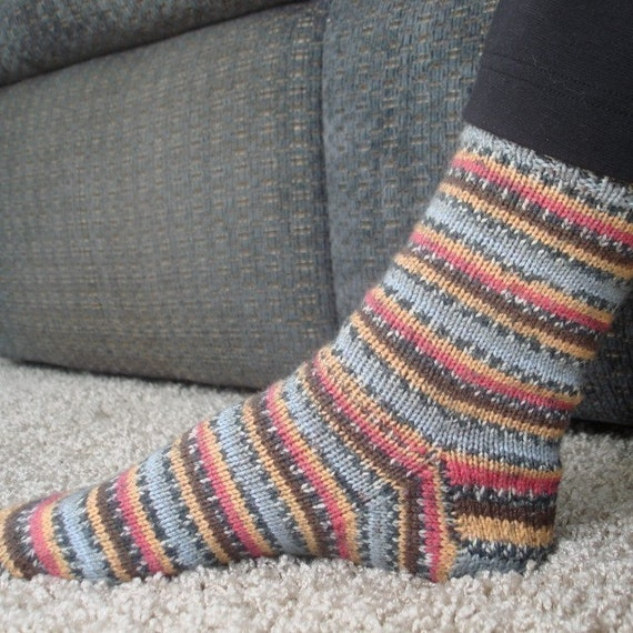 Easy Sock Knitting Pattern : Easy Socks on Circular Needles knitting pattern by ...