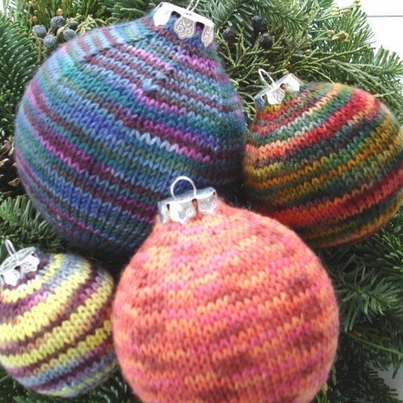 Knit Pattern Christmas Ornaments In Sock Yarn