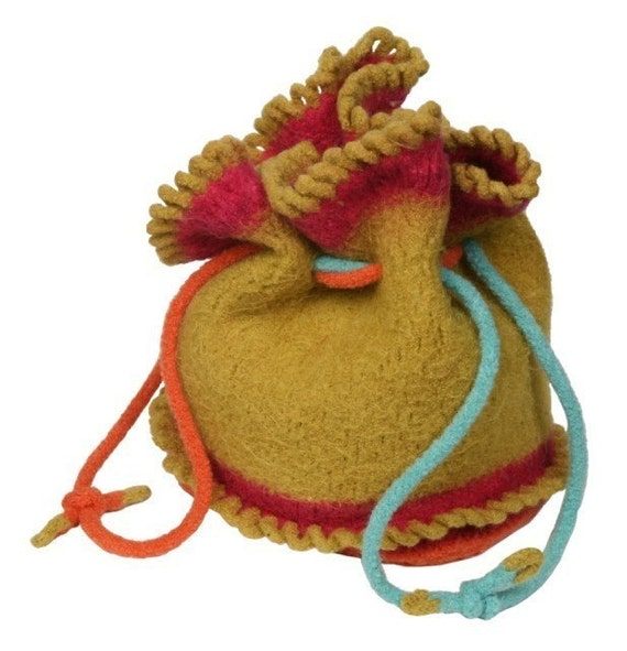 Knit Pattern - Felted Loopy Seussy Bag